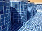 Lamina armada mosaico azul